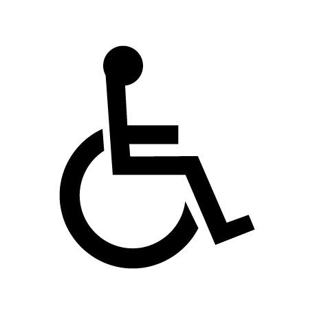 Pegatina silla de ruedas
