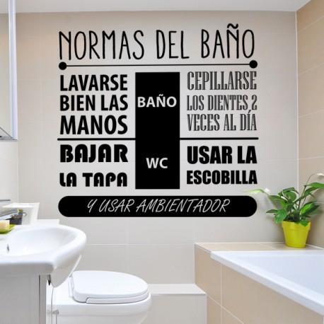 Vinilo normas ba o reglas lavabo for Vinilos para banos ikea