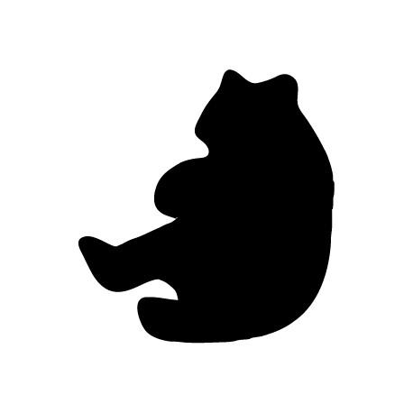 Vinilo pizarra oso panda