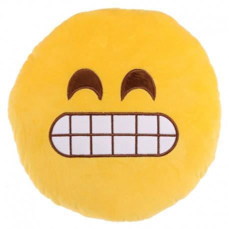 Cojín emoticono sonrisa dientes