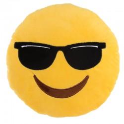 Cojín emoticono gafas