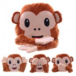 Cojín emoticono Mono