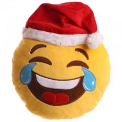 Cojín emoji carcajada Navidad
