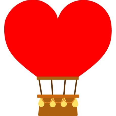 Vinilo globo corazón