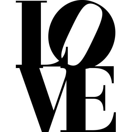 Vinilo Love texto