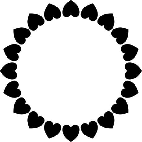 Vinilo marco corazones