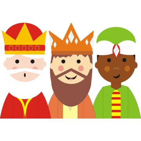 Vinilo decorativo Reyes Magos