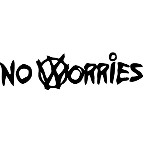 Pegatina No Worries VW