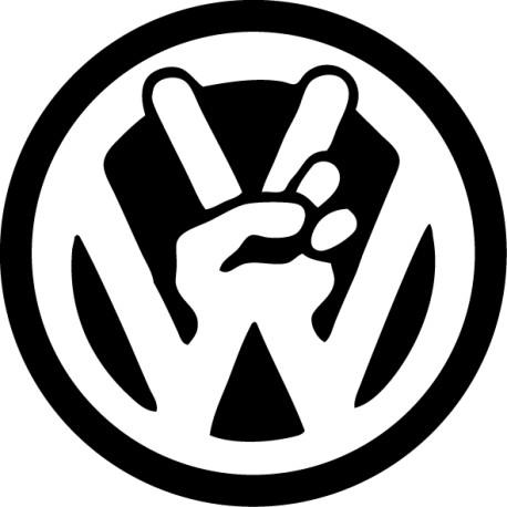 Pegatina coche Volkswagen mano