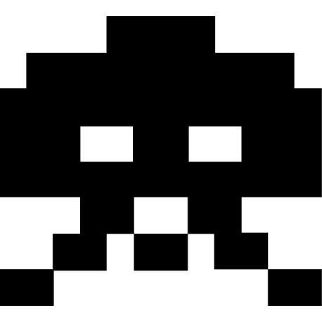 Vinilo monstruo píxel