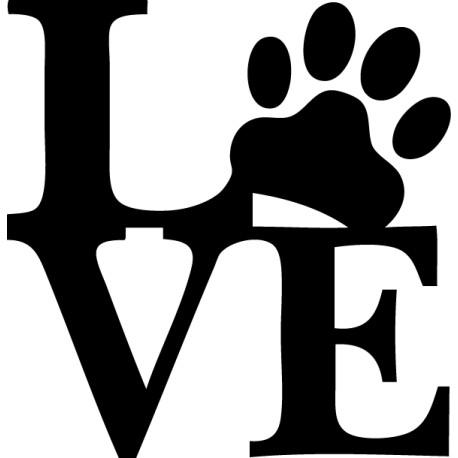 Vinilo amor animal