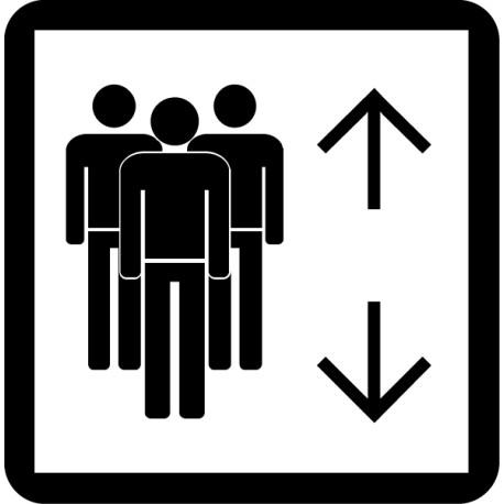 Pegatina ascensor