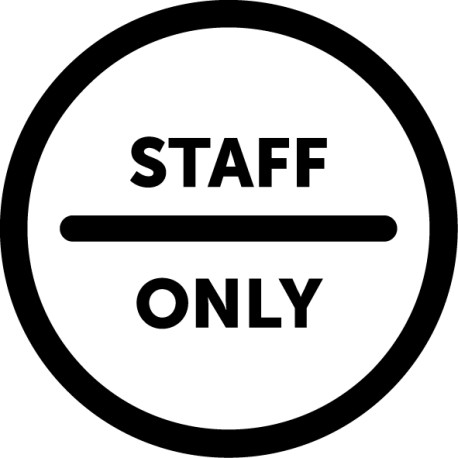 Vinilo puerta Staff Only