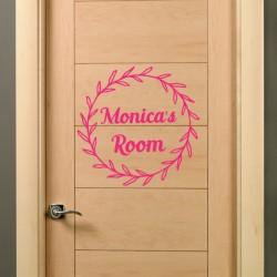 Vinilo personalizado puerta floral