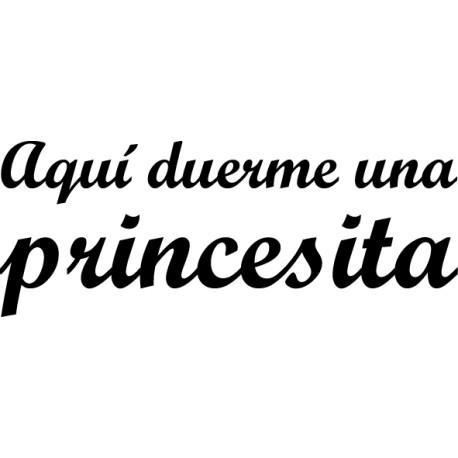 Vinilo aquí duerme princesita
