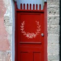 Vinilo laurel puerta