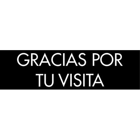 Pegatina gracias por tu visita