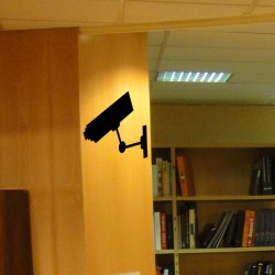 Adhesivo señal videovigilancia