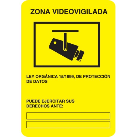 Vinilo placa videovigilancia
