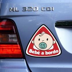 Adhesivo bebé a bordo niño