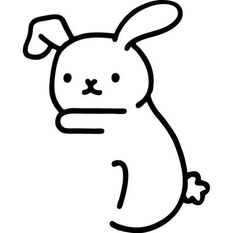 Pegatina conejo descansando
