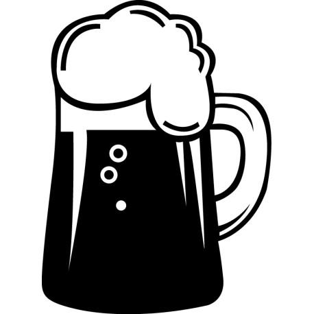 Vinilo burbujeante cerveza