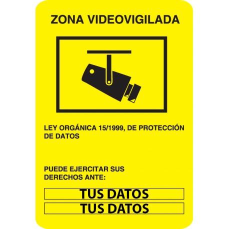 Vinilo zona videovigilada personalizada