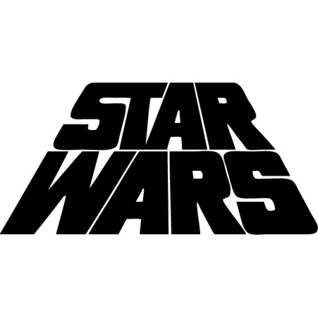 Vinilo decorativo logo Star Wars 3d