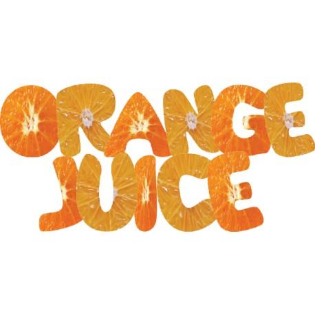 Vinilo texto zumo naranja