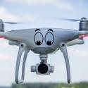 Adhesivo ojos para dron