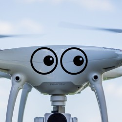 Vinilo mirada para dron