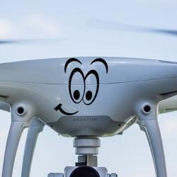Pegatina drone ojos sonrisa