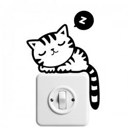 Vinilo interruptor gato durmiendo