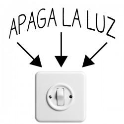 Vinilo interruptor apaga la luz