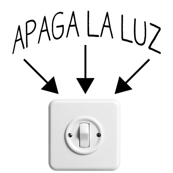 Vinilo Decorativo Interruptor Apaga La Luz