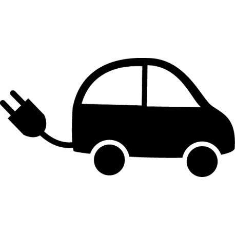 Pegatina coche eléctrico
