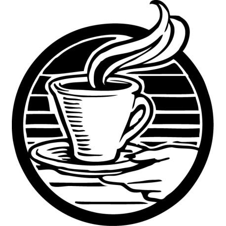 Vinilo sirviendo café