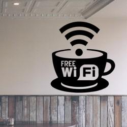 Vinilo señal café wifi gratis