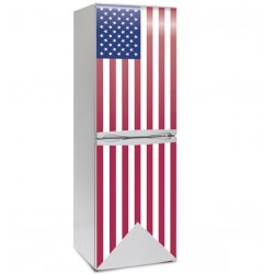 Vinilo bandera USA nevera
