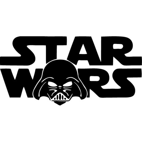 Vinilo decorativo Star Wars cara Darth Vader