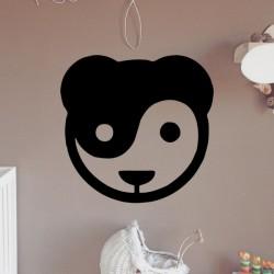 Adhesivo panda yin yang
