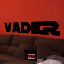 Pegatina texto Vader Star Wars