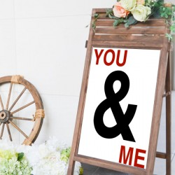 Vinilo You and Me personalizable