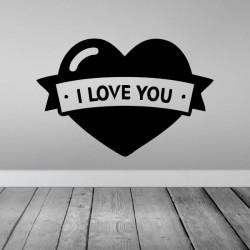 Vinilo corazón i love you