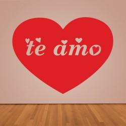 Pegatina corazón te amo
