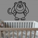 Adhesivo infantil mono