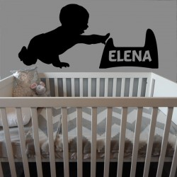 Vinilo infantil bebe nombre personalizado
