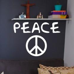 Vinilo peace y logo