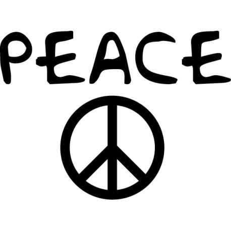 Vinilo decorativo peace y logo
