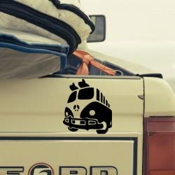 Vinilo furgoneta de la paz
